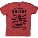 Doctor Who Vote No On Daleks Red T-Shirt