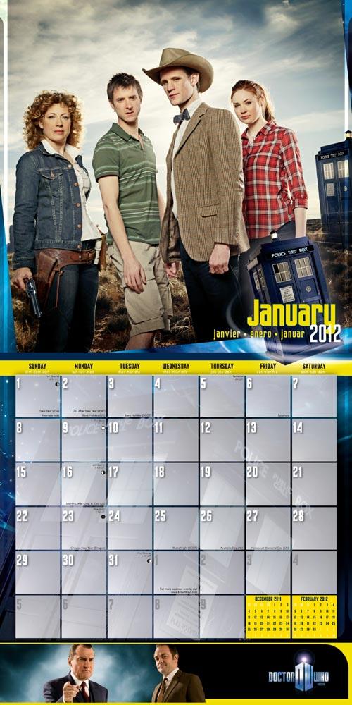 Doctor Who Wall Calendar