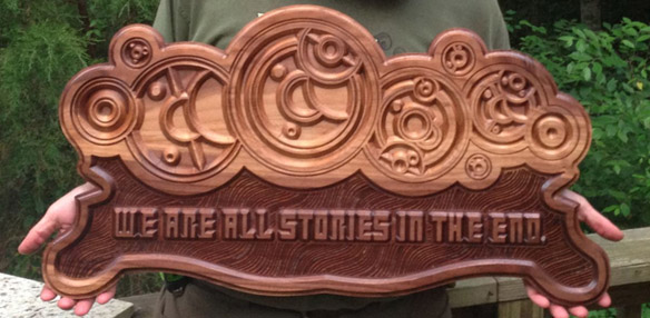 Doctor Who We Are All Stories In The End Wall Carving