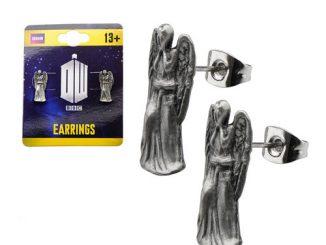 Doctor Who Weeping Angel 3D Stud Earrings