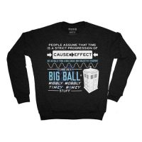 Doctor Who Wibbly Wobbly Timey Stuff Quote Fleece Sweater