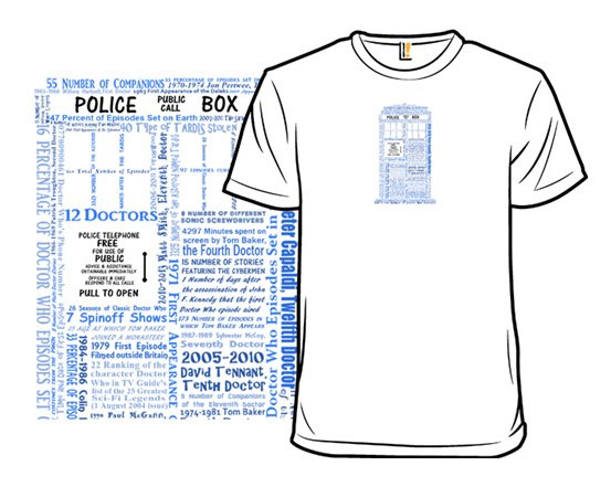 Doctor Who by the Numbers T-Shirt