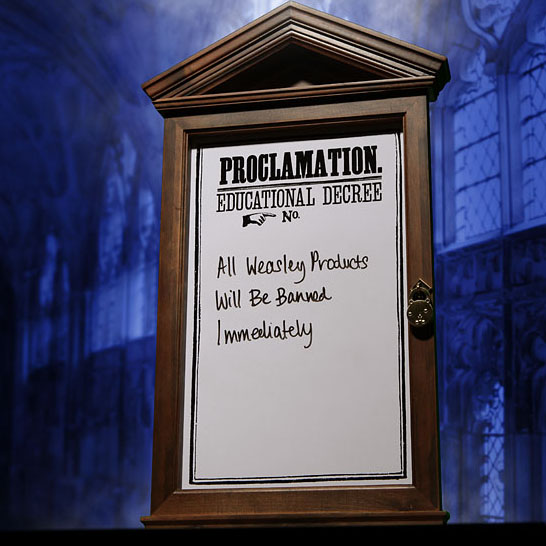 Dolores Umbridge Proclamation Board from Harry Potter Movie