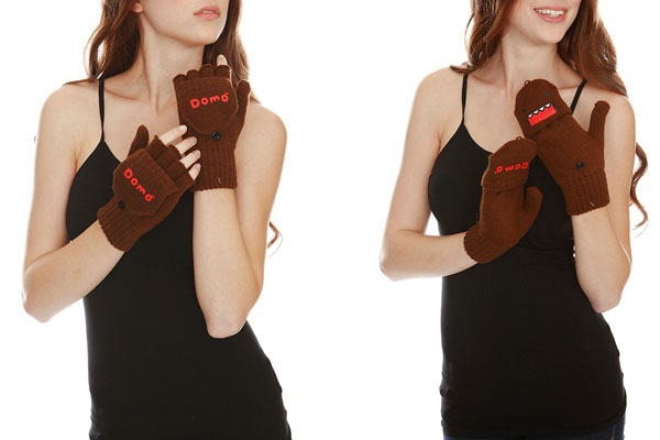 Domo Face Convertible Knit Fingerless Gloves