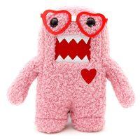 Domo Pink Nerd Heart Plush