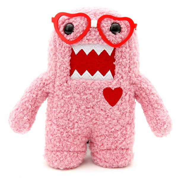 Domo Plush Nerd with Heart Glasses