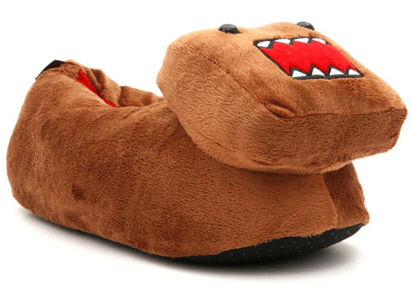 The Domo Plush Slippers are great for keeping you warm indoors, but when you head out, grab your Domo Hoodie and Domo Hat so you can enjoy our apple hating