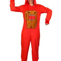Domo Red Footed Hooded Pajamas