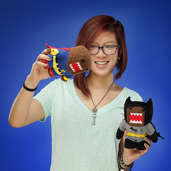 Domo Superman and Batman Plush Toys