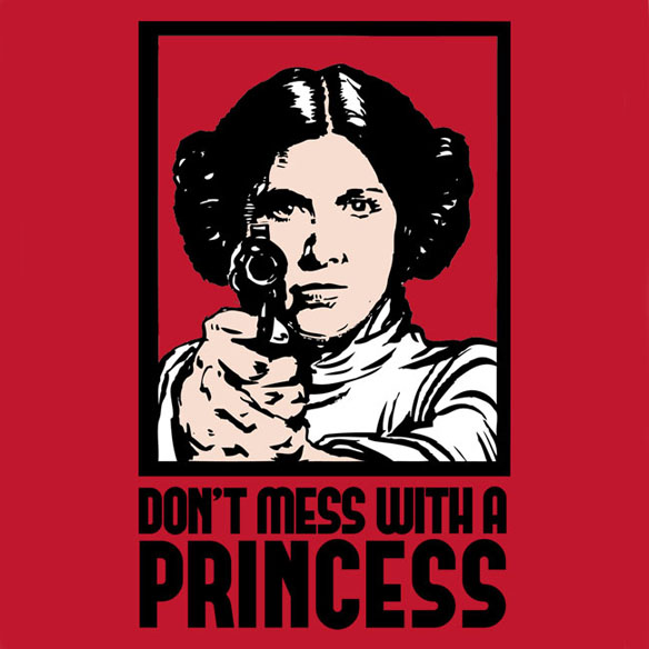 Don't Mess With a Princess Babydoll T-Shirt