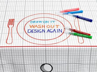 Doodle Washable and Reuseable Tablecloth