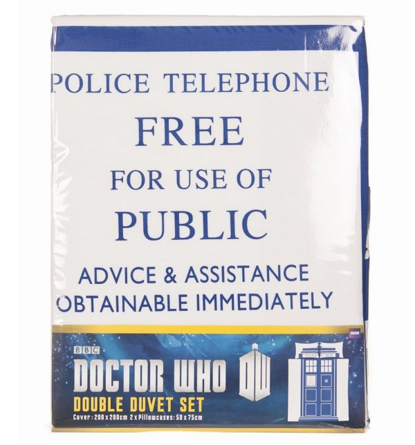 Double Doctor Who Tardis Duvet Set