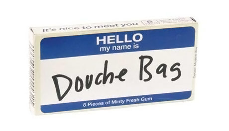 Douchebag Novelty Gum