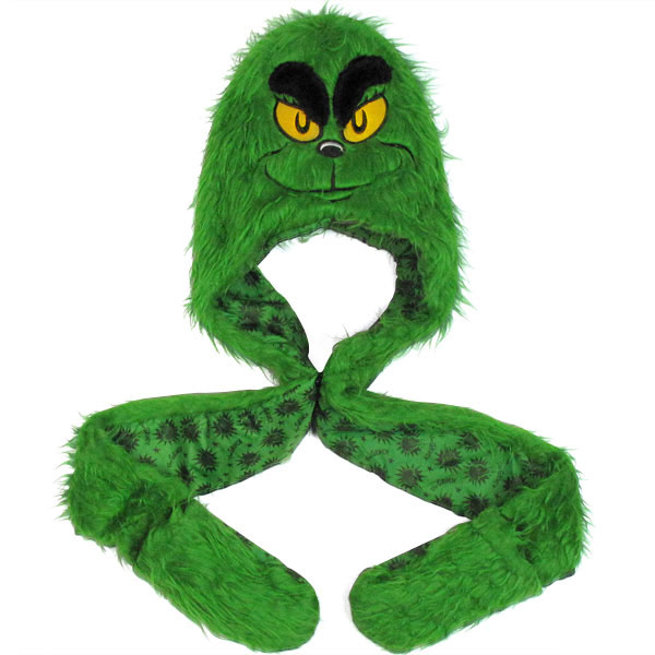 Dr. Seuss Grinch Furry Snood Beanie 39008e55adc