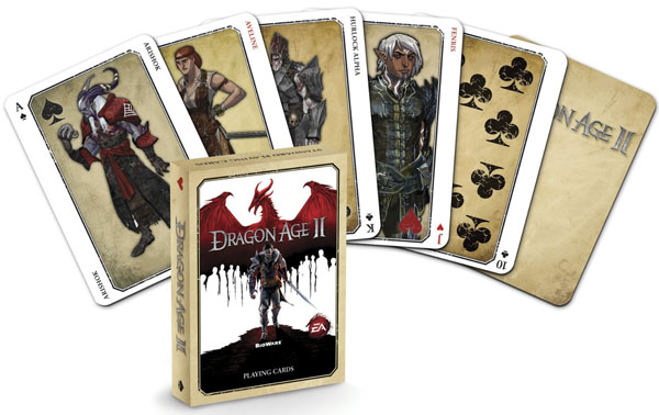 top deck cards: Dark Horse Deluxe Dragon Age II Playing Cards
