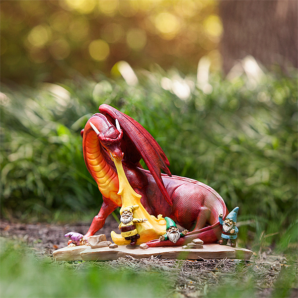 Dragon Attack Lawn Ornament