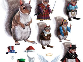 Dress Up Squirrel Magnets