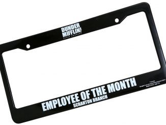 Dunder Mifflin Employee of the Month License Plate Frame