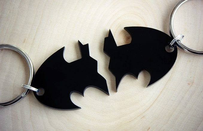 Dynamic Duo Batman Keychain Set