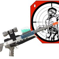 E5000 Auto Fire Blaster With Zombie Target
