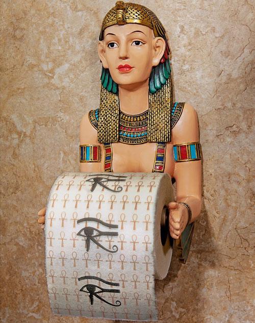 Egyptian Priestess Bath Tissue Holder