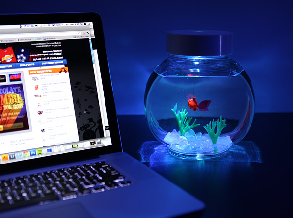 Electronic Goldfish in a Bowl