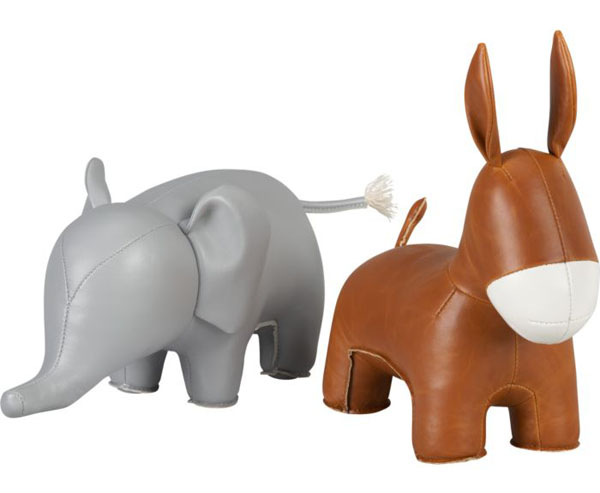 Elephant and Donkey bookends