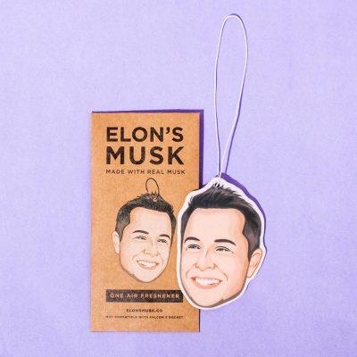 Elon Musk Car Air Freshener