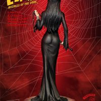 Elvira Mistress Of The Dark Statue Back