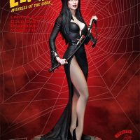 Elvira Mistress Of The Dark Statue Side with Whip