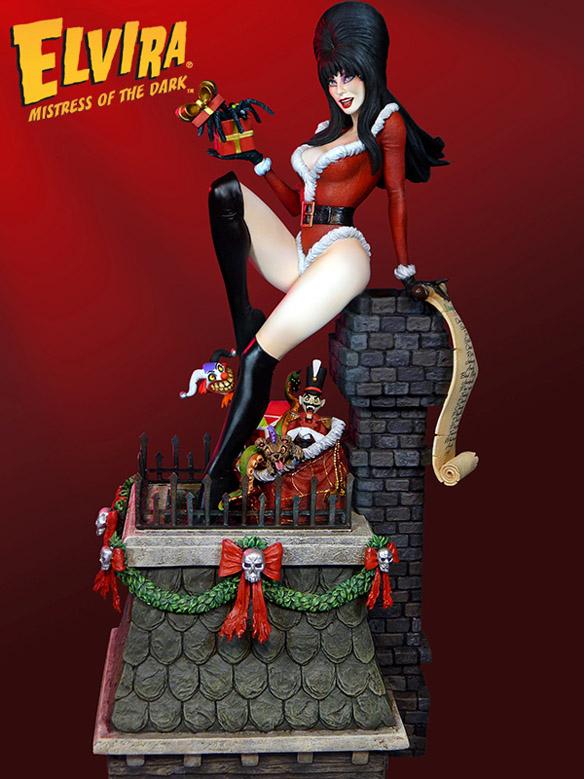 Elvira Mistress of the Dark Scary Christmas Maquette