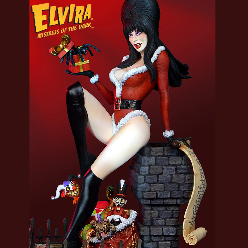 Elvira S Scary Christmas Exclusive Maquette
