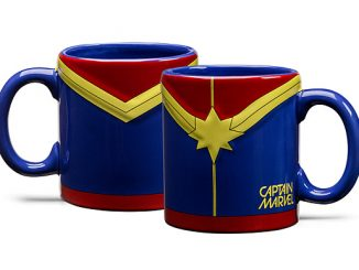 Embossed Captain Marvel Mug