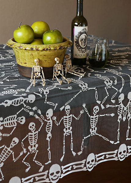Embroidered Skeleton Dance - Table Topper