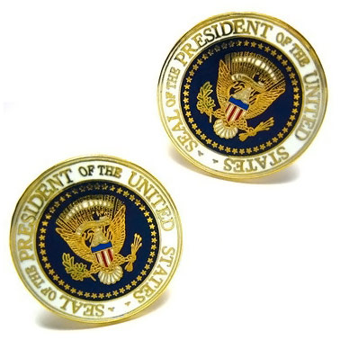 Enamel United States USA Presidential Seal Cufflinks