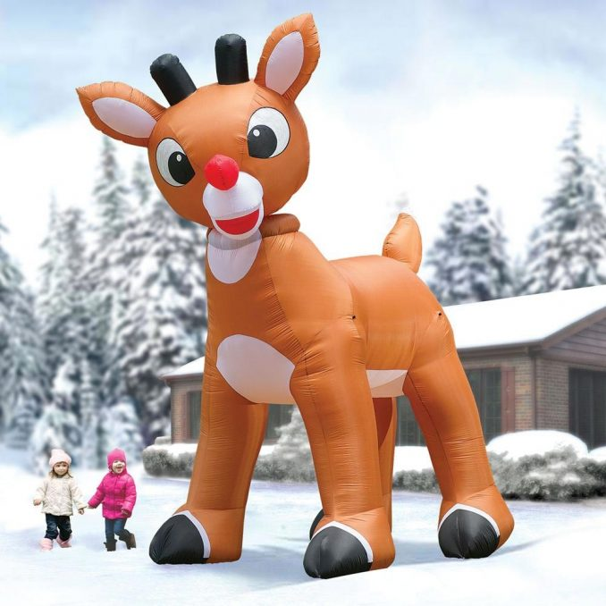 Enormous Inflatable Rudolph the Red Nosed Reindeer