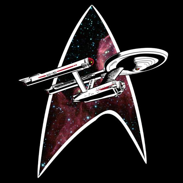Enterprise in Space Tshirt