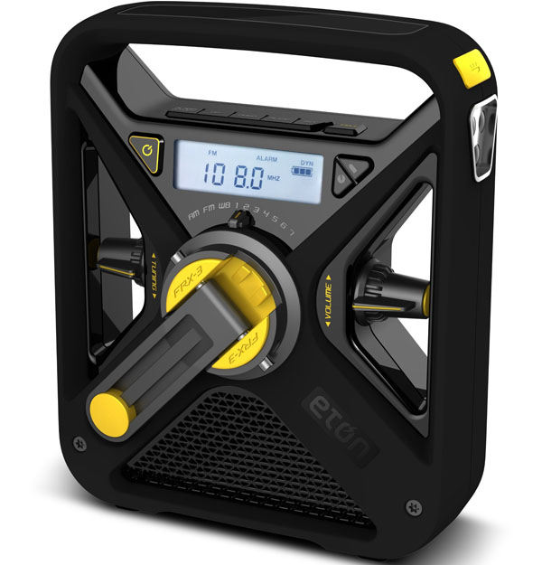 Eton FRX3 Hand Turbine NOAA AM FM Weather Alert Radio with Smartphone Charger