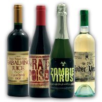 Evil Fake Wine Bottle Labels