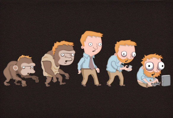 Evolution-of-Gamers-T-Shirt