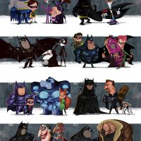 Evolution of the Batman Films Poster Print