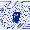 Exclusive TARDIS Stripe Ladies' Raglan T-Shirt Design