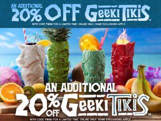 Extra 20% Off Geeki Tikis ThinkGeek