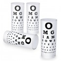 Eye Chart Shot Glasses