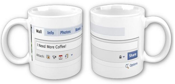 Facebook Status Coffee Mug