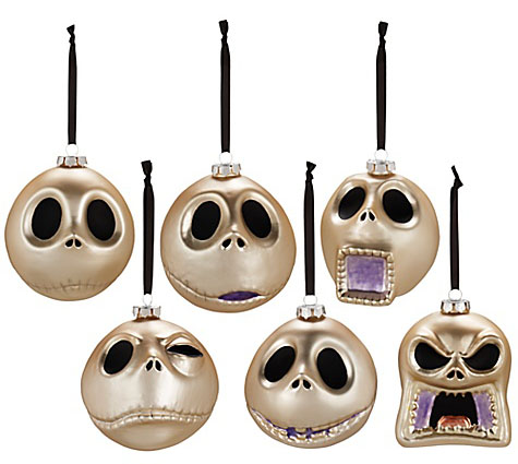 Faces of Jack Skellington Ornament Set