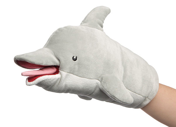Factory Entertainment Archer Pams Dolphin Puppet Plush