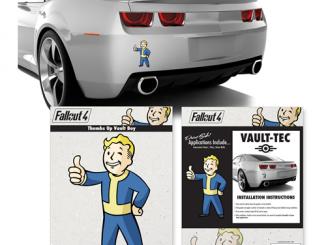 Fallout 4 Vault Boy Mini Car Decal