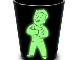 Fallout Vault Boy Glow-in-the-Dark Shot Glass