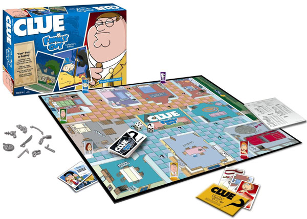 Family Guy Clue Board Game